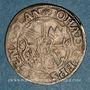 Monnaies Alsace. Strasbourg. Evêché. Jean de Manderscheid (1569-1592). 3 kreuzers 1586. Molsheim