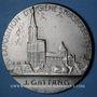 Monnaies Alsace. Strasbourg. Exposition d'hygiène. 1935. Médaille bronze argenté. 49 mm