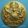 Monnaies Alsace. Strasbourg. Exposition d'hygiène. 1935. Médaille bronze doré. 48,6 mm
