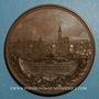 Monnaies Alsace. Strasbourg. Exposition Industrielle. 1895. Médaille cuivre. 68 mm