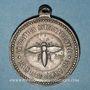 Monnaies Alsace. Strasbourg. Exposition Internationale. 1875. Médaille zinc. Avec son anneau. 33,2 mm