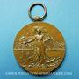 Monnaies Alsace. Strasbourg. Fédération des Sociétés de Musique d'Alsace et de Lorraine. Médaille bronze doré