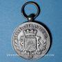Monnaies Alsace. Strasbourg. Fédération Nationale de Sauvetage. Médaille bronze argenté.  Avec son anneau