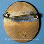 Monnaies Alsace. Strasbourg. Festival international Etudiant. Insigne ovale. Bronze émaillé. 21,6 x 30,3 mm