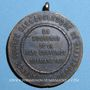 Monnaies Alsace. Strasbourg. Fête costumée. 1921. Médaille cuivre. Avec son anneau de suspension. 30 mm