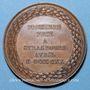 Monnaies Alsace. Strasbourg. Fête musicale. 1830. Médaille cuivre. 41 mm. Gravée par Kirstein