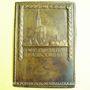 Monnaies Alsace. Strasbourg. Foire-exposition. 1929. Plaquette uniface bronze. 57,2 x 80,5 mm
