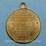 Monnaies Alsace. Strasbourg. Guerre de 1870 - Le général Uhrich. Médaille laiton avec  avec son œillet