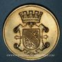 Monnaies Alsace. Strasbourg. Harmonie de Cronenbourg. 1900. Médaille bronze doré. 34,21 mm