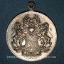 Monnaies Alsace. Strasbourg. Harmonie de Cronenbourg. 1900. Médaille laiton argenté. 29 mm