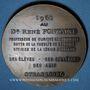 Monnaies Alsace. Strasbourg. Hommage au docteur René Fontaine. 1961. Médaille bronze. 50,5mm. Par René Hetzel