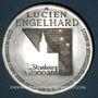 Monnaies Alsace. Strasbourg. Hommage de l'UNA à Lucien Engelhard. 1988. Médaille étain. 60,44 mm