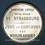 Monnaies Alsace. Strasbourg. Hospices civils. Médaille étain. 35 mm. Sans poinçon