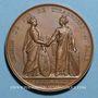 Monnaies Alsace. Strasbourg. Inauguration de la ligne de chemin de fer de Strasbourg - Bâle. 1841 Médaille br