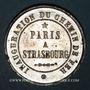 Monnaies Alsace. Strasbourg. Inauguration de la ligne de chemin de fer Paris-Strasbourg. 1852. Médaille étain