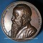 Monnaies Alsace. Strasbourg. Jean Sturm  (1507-1589). 1838. Médaille bronze. 50 mm. Gravée par Kirstein