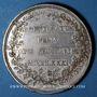 Monnaies Alsace. Strasbourg. Jubilé du rattachement de Strasbourg à la France. 1781. Médaille argent. 42 mm