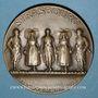 Monnaies Alsace. Strasbourg. Libération de Strasbourg. 1918. Médaille. Bronze. 49,6 mm