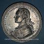 Monnaies Alsace. Strasbourg. Mausolée du Maréchal de Saxe. (Fin 18e). Médaille étain, coulée