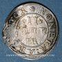 Monnaies Alsace. Strasbourg. Municipalité. 2 kreuzers (1623-40) contremarquée d'un lion dans un écu. Inédit!