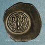 Monnaies Alsace. Strasbourg. Municipalité. Pfennig biface à l'aigle de face. Offenbourg (1309-1316)