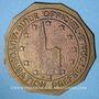 Monnaies Alsace. Strasbourg. Plaque de guide officiel. Bronze uniface. 50 mm