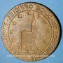 Monnaies Alsace. Strasbourg. Plaque de guide officiel (vers 1950). Bbronze uniface. 46 mm