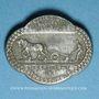 Monnaies Alsace. Strasbourg. Rassemblement des coopératives agricoles à Strasbourg. 1941 Médaille métal blanc