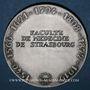 Monnaies Alsace. Strasbourg. Sceau de la Faculté de Médecine de Strasbourg (début du XVIIe). Médaille argent