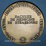 Monnaies Alsace. Strasbourg. Sceau de la Faculté de Médecine de Strasbourg (début du XVIIe). Médaille bronze