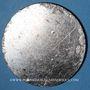 Monnaies Alsace. Strasbourg. Société canine du Bas-Rhin S.G.B.R. Médaille étain argenté uniface. 50 mm