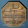 Monnaies Alsace. Strasbourg. Société Générale Alsacienne de Banque. 50e anniversaire. 1931. Médaille bronze