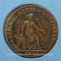 Monnaies Alsace. Strasbourg. Soumission de la ville. 1681. Jeton cuivre 28 mm