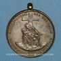 Monnaies Alsace. Strasbourg. Tiers-ordre de Saint François d'Assise. 1866. Insigne bronze argenté