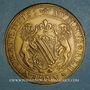 Monnaies Alsace. Strasbourg. Tricentenaire du rattachement  à la France. 1981. Médaille bronze. 45 mm