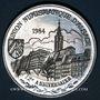 Monnaies Alsace. Strasbourg. U.N.A. - 1er concours d'exposition numismatique. 1989. Médaille étain. 42,33 mm