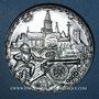 Monnaies Alsace. Strasbourg. U.N.A. - 2e concours d'exposition numismatique. 1990. Médaille étain. 41,5 mm