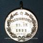 Monnaies Alsace. Strasbourg. Union sportive Alsatia Nova de Koenigshoffen. 1895. Médaille laiton nickelé