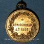 Monnaies Alsace. Strasbourg. Union sportive Alsatia Nova de Königshofen. 1886. Médaille laiton. 24,6 mm