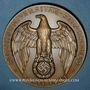 Monnaies Alsace. Strasbourg. Université de Strasbourg. 1941. Médaille bronze. 57,63 mm. Signée K. S.