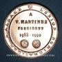 Monnaies Alsace. Strasbourg. Vincent Martinez, président de l'U.N.A. (1988-1990). Médaille bronze. 42,38 mm