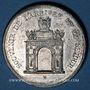 Monnaies Alsace. Strasbourg. Visite de Charles X. 1828. Médaille. Etain. 35 mm. Gravée par C. Müller