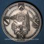 Monnaies Alsace. Strasbourg. Visite de Jean-Paul II, 8-11 oct. 1988. Médaille argent 42 mm. Signée Britschu