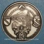 Monnaies Alsace. Strasbourg. Visite de Jean-Paul II. 8-11 octobre 1988. Médaille argent. Signée Britschu
