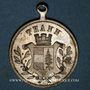 Monnaies Alsace. Thann. 2e tournoi de gymnastique d'Alsace-Lorraine. 1894. Médaille laiton argenté