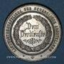Monnaies Alsace. Wissembourg. Salon professionnel agricole 1884. Médaille étain. 35,85 mm