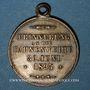 Monnaies Alsace. Wittenheim. Chorale masculine. Bénédiction du drapeau. 1895. Médaille laiton