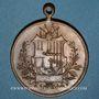Monnaies Colmar. 1er tournoi interrégional de gymnastique. 1907. Médaille bronze