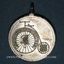 Monnaies Colmar. 1ère course de vélocipèdes. 1888. Etain. 30,81 mm, avec son œillet