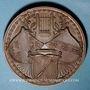 Monnaies Colmar. 2e congrès des chorales d'Alsace-Lorraine. 1894. Médaille cuivre
